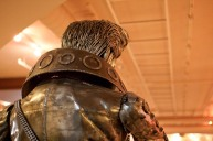Back of Cyborg Elvis statue at Palms Thai Restaurant