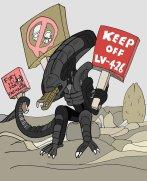 xenophobic_xenomorph_by_wookieebasher-d3cbedr